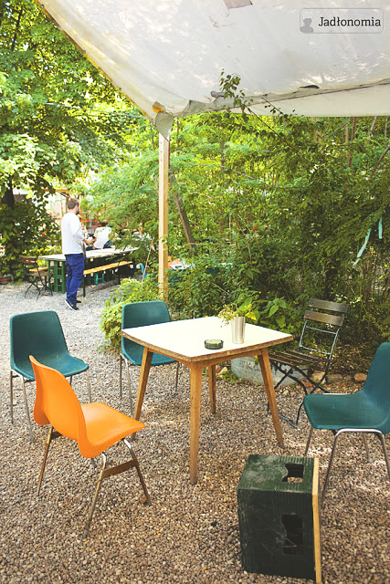 Ostatni pusty stolik na lunch w Prinzessinnengarten