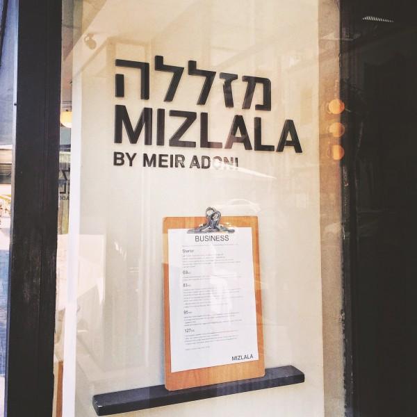 Wejście do Mizlali i karta biznesowych lunchy - w zależności od opcji cenowej lunche różnią się daniem głównym