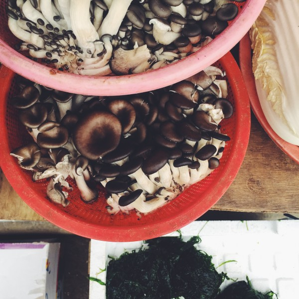 Świeże grzyby na targu