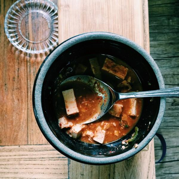 Tofu doenjang, czyli gulasz z tofu i pastą sojową