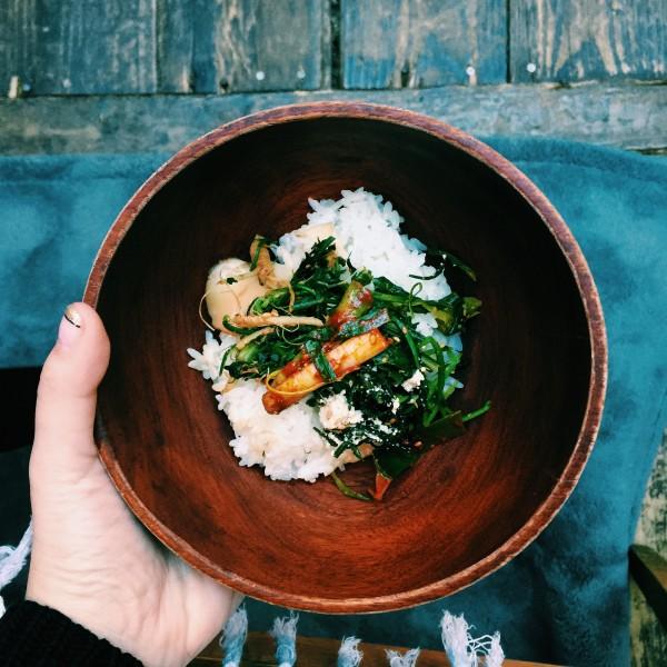 Ryż i warzywa namul w Baru